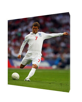 ENGLAND DAVID BECKHAM PHOTO PRINT ON   FRAMED CANVAS   PICTURE  WALL ART