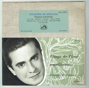 33T-25-cm-Giuseppe-DI-STEFANO-Vinyle-CHANSONS-NAPOLITAINES-VOIX-MAITRE-25055