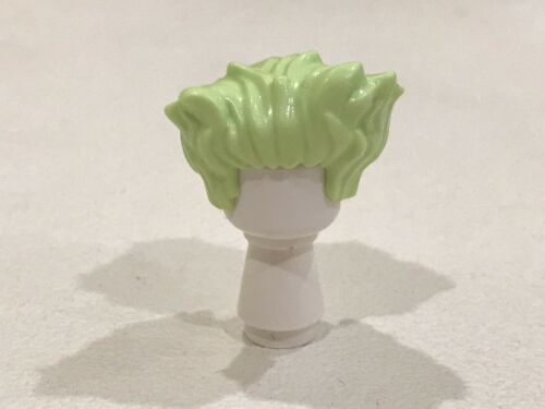 Lego Pelo Cabello para Minifigura verde amarillento con picos en lado Nuevo