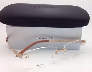 dd6e024459 Brand New KAZUO KAWASAKI Titanium Eyeglasses MP 704 11 SA 52 Rimless ...