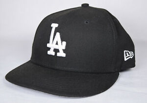59-Fifty-Los-Angeles-Dodgers-Cap-MLB-Black-White-Fitted-Hat-7-New