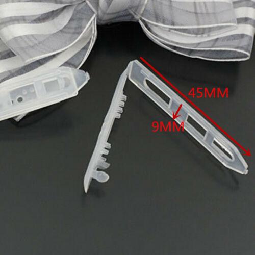 100pcs Child Safe Plastic Mini Hair Clips Barrette Bow Pin DIY Craft