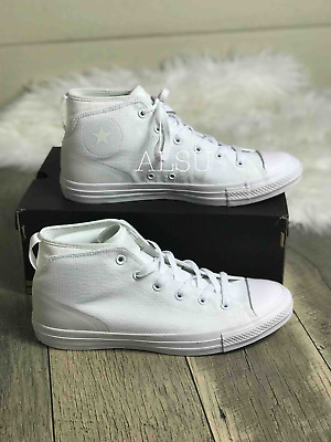 Sneakers Men's Converse Chuck Taylor All Star Syde Street Mid White White | eBay