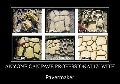 35% LARGER 50x50x4cm COBBLESTONE paver mould for DIY concrete path/patios PMBX