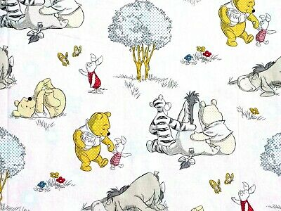 Eeyore 100/% Cotton Tigger Disney Fabric Pooh and Friends Tossed For Springs Creative Fabrics Piglet
