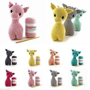 Hoooked Bricolaje Croché Kit Ziggy Jirafa Amigurumi Eco Barbante Reciclado Toy
