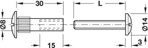 Screws Kitchen Bedroom Cabinet//Cupboard Furniture 10pcs x M6 Connector Bolts