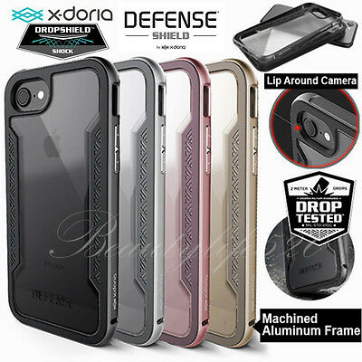 X-doria Shield Case For Apple iPhone 7 7 Plus Genuine Metal Military-Grade Cover