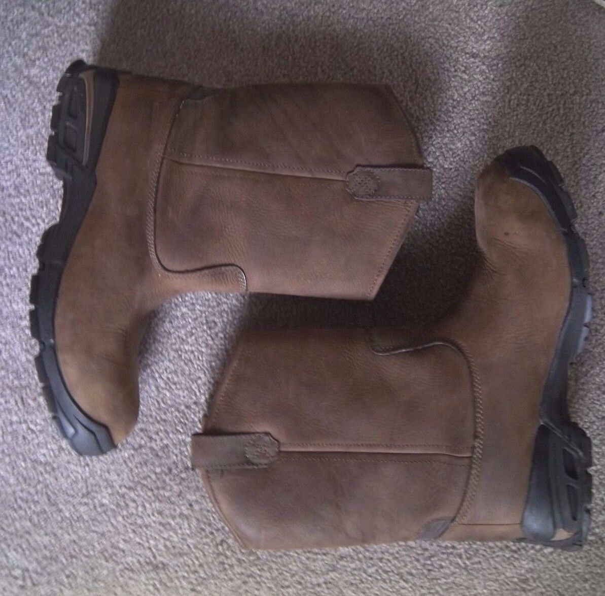 Mens Brown Leather Dunham Boots 9.5 D