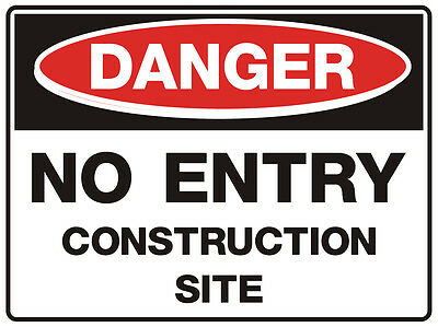 Danger Blank  A Frame  Stand Safety Sign 500x300mm Corflute Double Sided