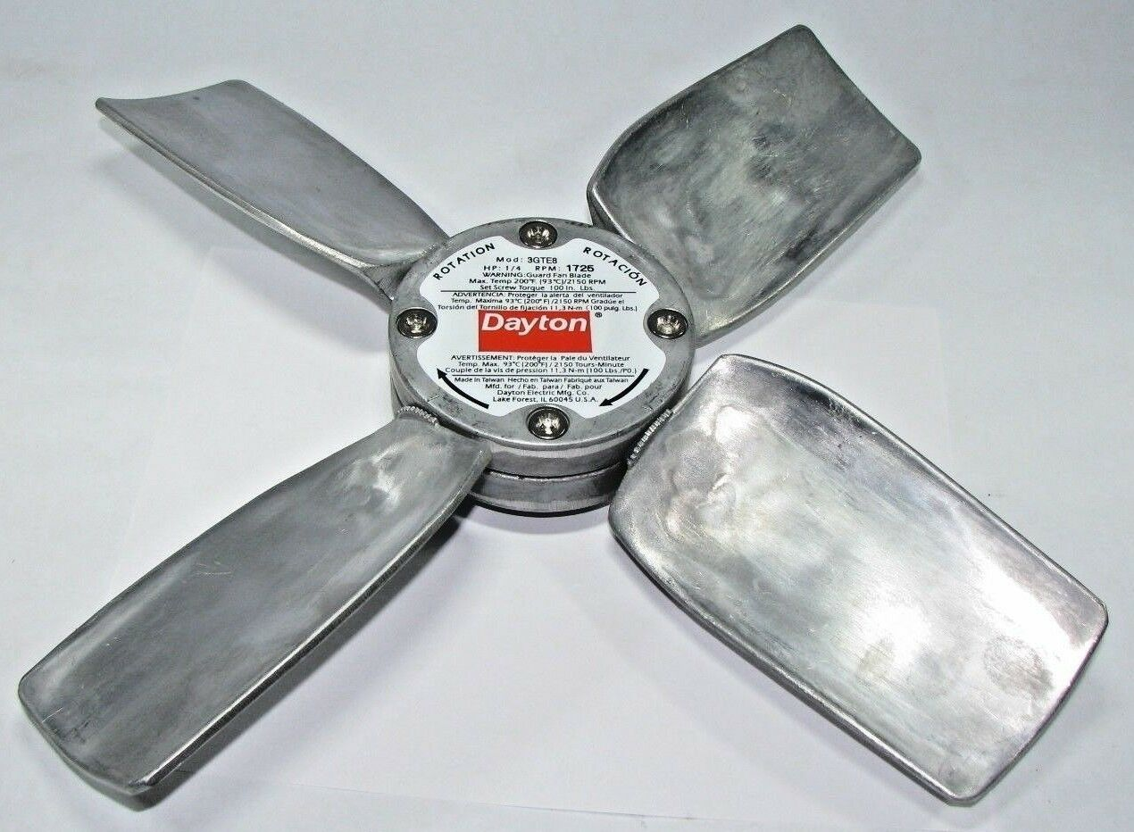 New in Box! Catalog # 3GTE8 DAYTON OEM Replacement Fan Propeller