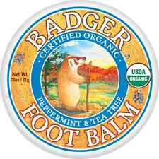 Badger FOOT BALM Certified Organic Moisturises & Repairs Dry Cracked Feet 21g