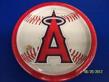 Los Angeles Angels Major League Baseball Collection 9 Round Party Plates