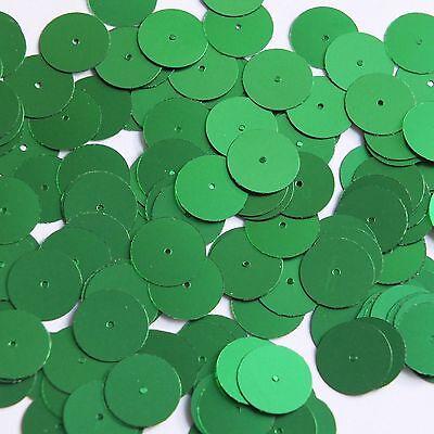 Mooi Round Sequin 15mm Green Matte Satin Metallic Couture Paillettes