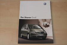 68920) VW Sharan Goal Prospekt 01/2004