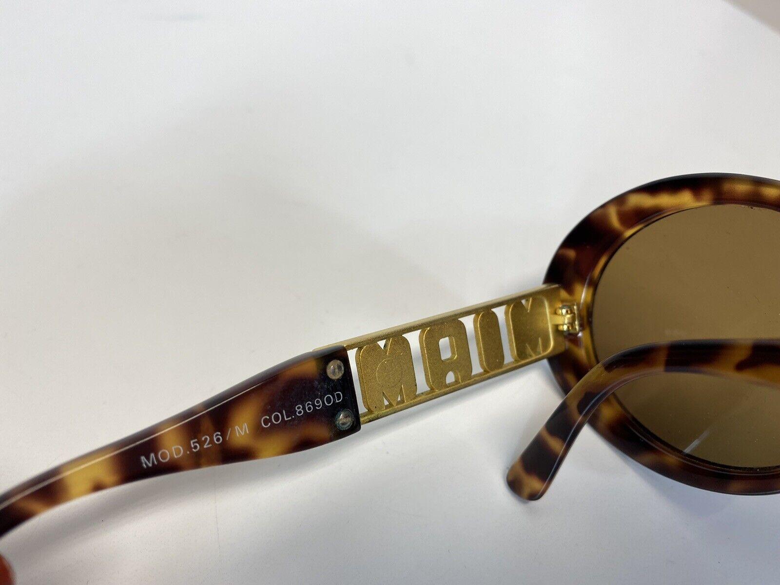 Rare Vtg Gianni Versace Brown 'Miami' Tortoiseshe… - image 5
