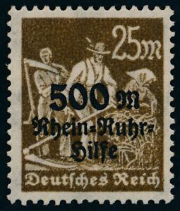 DR-1923-MiNr-259-VII-Plattenfehler-tadellos-postfrisch-gepr-Infla-Mi-65