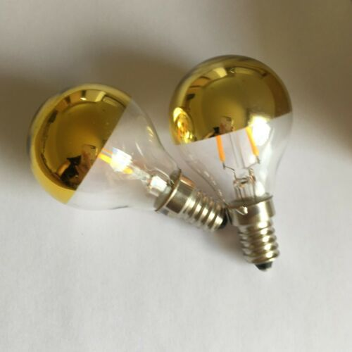 2x LED G45 Globe shaped dimmable light bulb with a E14 base