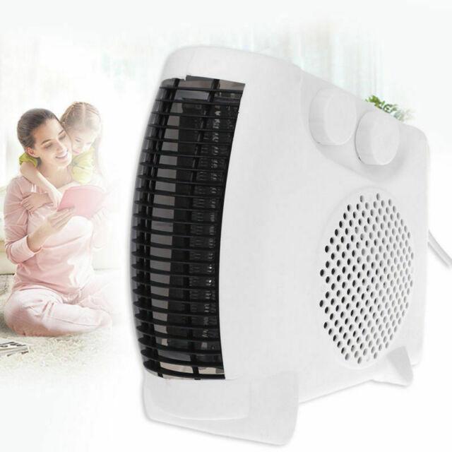 500W Mini PTC Ceramic Electric Heater Home Office Space Heating  Fan Silent