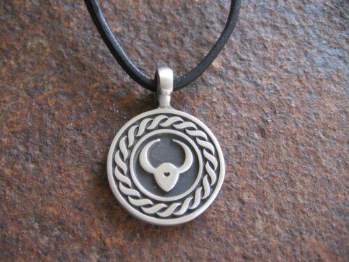 Signo del zodíaco CUERO cadena cuero caballero cadena astrología marrón collar negro