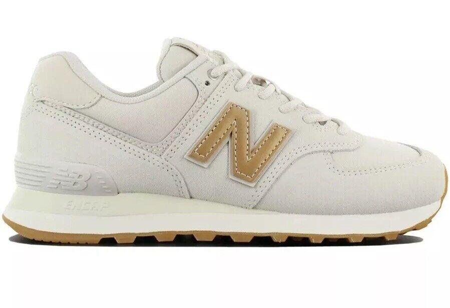 Nuovo equilibrio Classico 574 Donne  65533;Dimensione 7.5 scarpe da ginnastica Scarpe Beige Trainers WL574CLS  disponibile