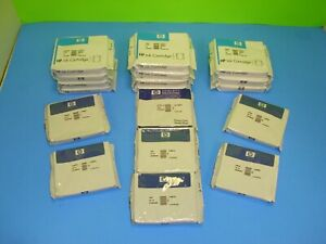 Lot-of-18-NEW-HP-10-Ink-amp-PrintHeads-EXPIRED-C4841A-C4842A-C4843A-C4801A-C4802A