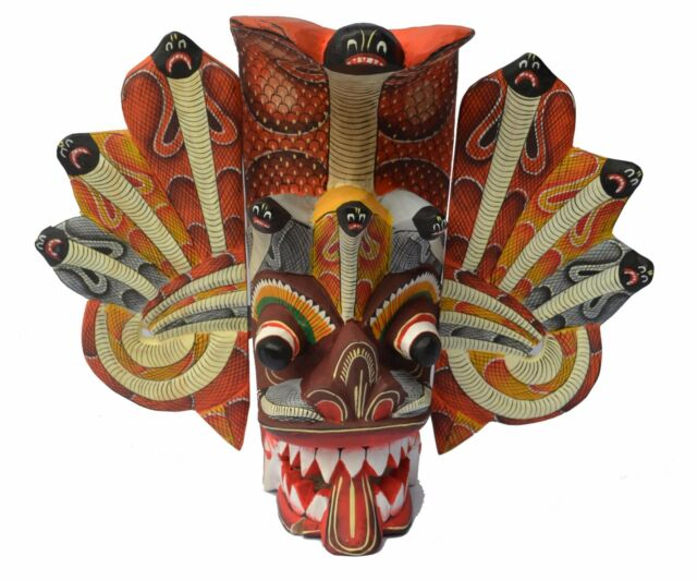 Sri Lankan Handmade Naga Raksha wall hanging home decorative Mask SERPENT DEMON