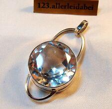 Rarität Erik Granit Anhänger Bergkristall 925 Silber Finnland 1966 / AW 236