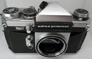 1964 VERGINI Edixa PRISMAT 35mm SLR Film M42 corpo macchina-Fotocamera di lavoro, Custodia