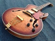 Custom shop SR-MED-335 electric guitar semi hollow body  ebony fingerboard
