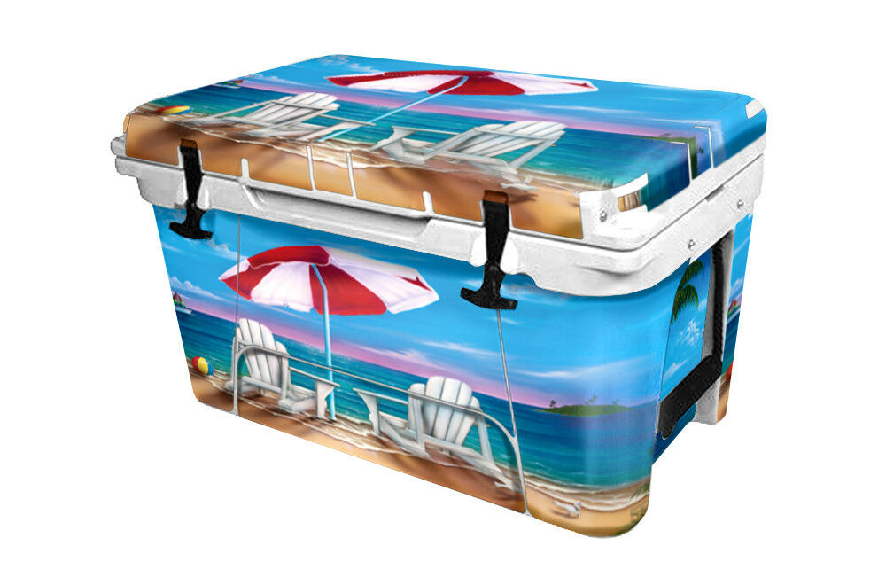 RTIC Wrap  Fits Old Mold  45qt Cooler 24mil  Full Kit Exotic Beach Vacation  outlet online