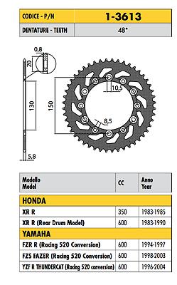 1-3613 - Corona Passo 520 Yamaha Fzs Fazer (racing 520 Conversion) 600 2000 2001