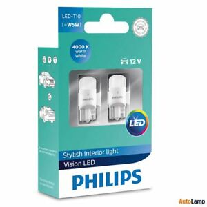 philips led t10 w5w 12v 4000k warm white interior car. Black Bedroom Furniture Sets. Home Design Ideas