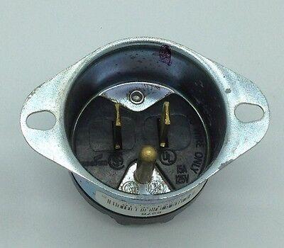 Cooper Wiring 5278-box Flanged Inlet 5-15P 15 AMP 125 volt Metal Motor Eaton