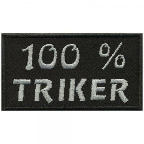 Gr AUFNÄHER 06154 ca 8,5 x 4,5 cm 100/% Triker Patches Stick  ...