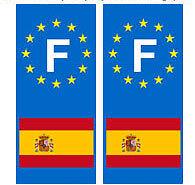 Autocollant-Espagne-plaque-immatriculation-auto