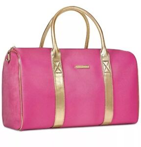 Juicy Couture DUFFLE BAG WEEKENDER BAG TRAVEL BAG NEW PINK GOLD ... a8ca8d969f42