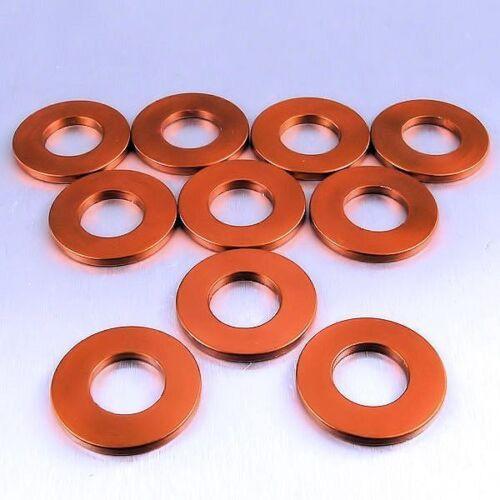 Pk x 10 Orange 16mm o//d Pro-Bolt Aluminium Washers M8