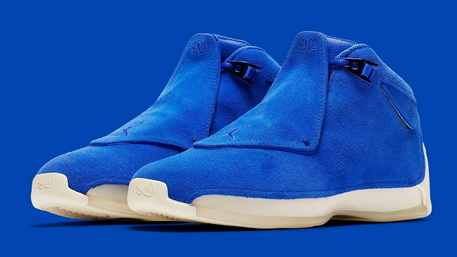 AIR JORDAN 18 RETRO  bluee Suede  AA2494-401 Racer bluee Sail Men's Size NOW