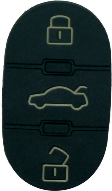 Fits Audi A2 A3 A4 A6 A8 TT 3 Button Key Fob Case Remote Rubber Buttons repair
