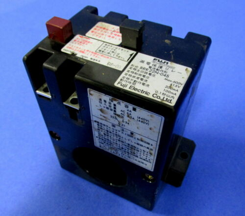 FUJI ELECTRIC EARTH LEAKAGE PROTECTIVE RELAY BRR 22N-04S *PZF*