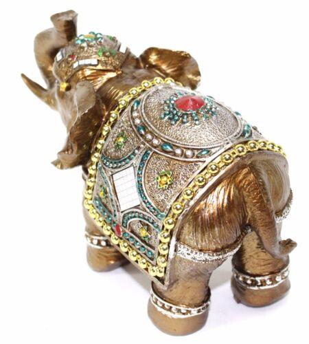 "Feng Shui 7/"" Elegant Elephant Trunk Statue Lucky Figurine Gift /& Home Decor"
