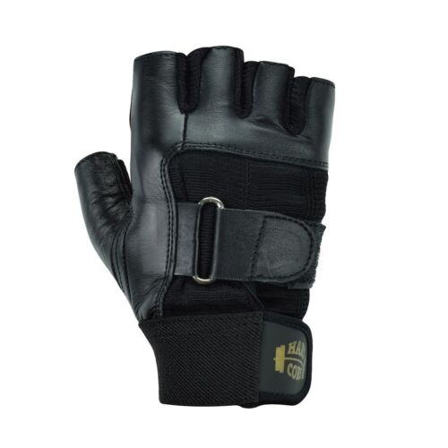Rawhide Leather Strap Gym Gloves Weightlifting Fitness Biking Cycling Driving