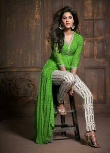 Indian-kurta-dress-With-dupatta-Flare-Top-Tunic-palazzo-blouse-Combo-Ethnic-ft93