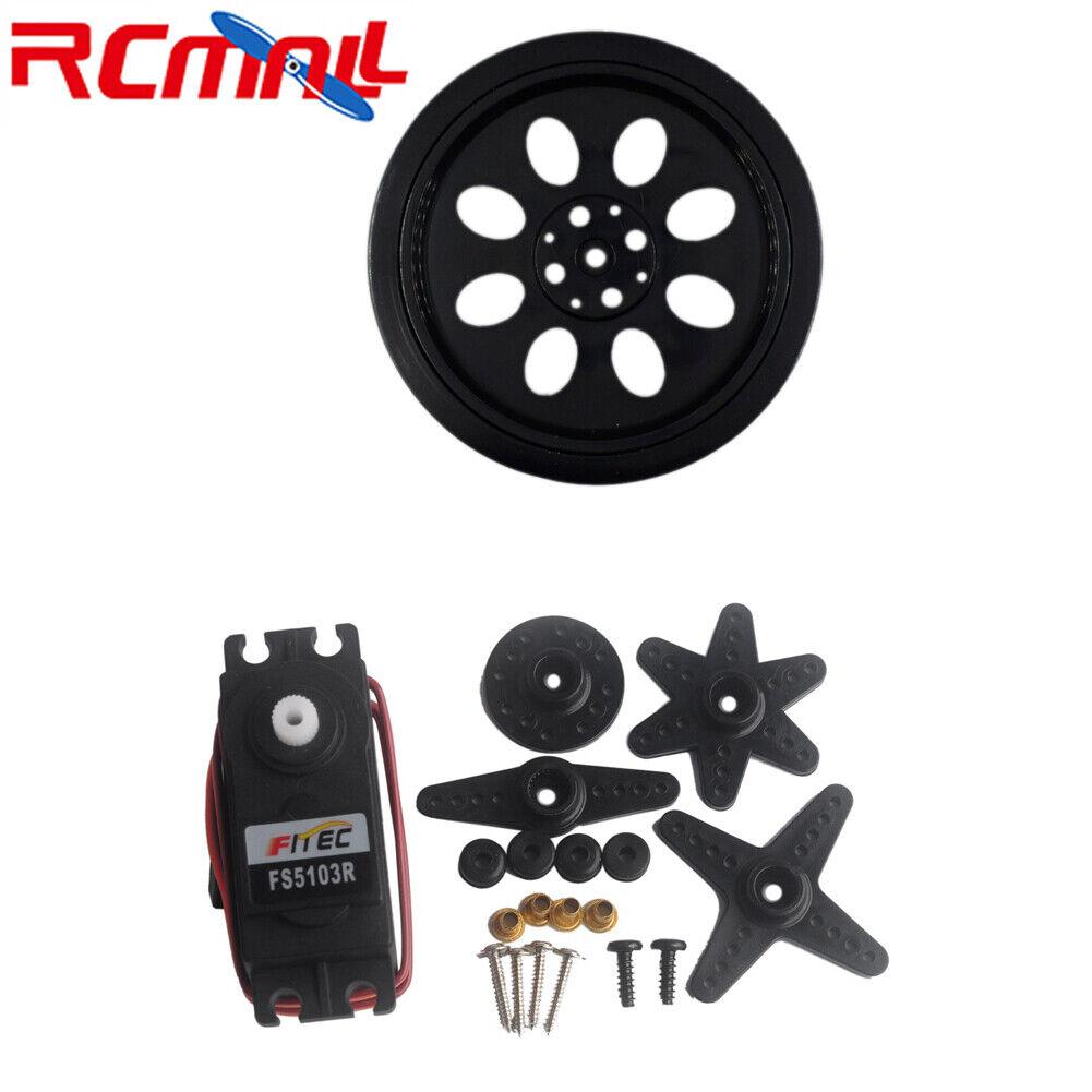 1 4 10Pc Feetech FS5103R 360 Degree Continuous redation Servo Motor CW CCW Wheel
