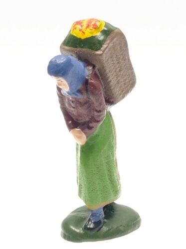 Replika Frau mit Kiepe Metallguß für Spur 0 #365