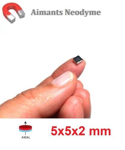 Lot aimant bloc 5x5x2 mm Très Puissant Neodyme N35 Fixation Magnet Fimo..