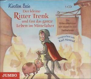 Kirsten-Boie-Der-kleine-Ritter-Trenk-Leben-im-Mittelalter-5-CD-Hoerbuch-NEU