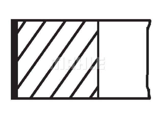 MAHLE ORIGINAL Piston Ring Kit 012 18 N0