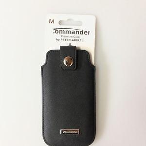 Commander-Luxury-Case-pour-Apple-Iphone-3g-3gs-4-4s-5-5s-5c-5se-Taille-M-Noir